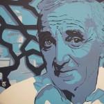 Aznavour et MuCEM, 2019, Huile et acrylique sur toile (50x50 cm)