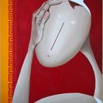 Le Penseur, 2013, Huile sur toile (65x54cm)