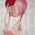 Baiser et Poèmes, 2014, Huile sur toile (81x60cm)
