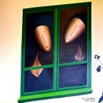 Couple à la Fenêtre, 2013, Huile sur toile (100x121cm)