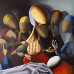 Guerre, 2015, Huile sur toile (100x121cm)