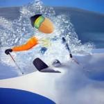 2015 Skieur - Huile sur toile (65x92cm)