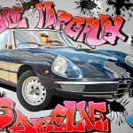 Alfa Romeo Spider - Eric, 2016, Huile et acrylique sur toile (65x92cm)