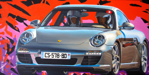 N°911 de Porsche, 2018, Huile sur toile (40x80cm)