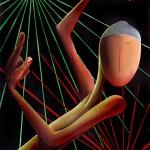 Dance Floor Lui, 2016, Huile sur toile (40x30cm)