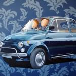 Et Viva Italia, 2016, Huile et acrylique sur toile (73x100cm)
